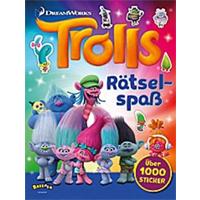 Trolls Rästel- und Stickerheft