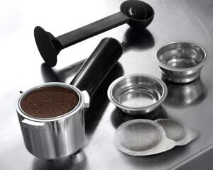 Siebträger einer Espressomaschine