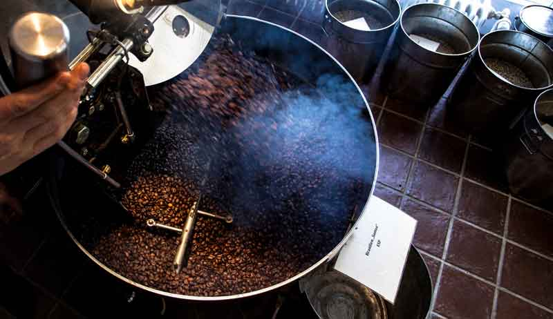 Röstung der Kaffeebohnen