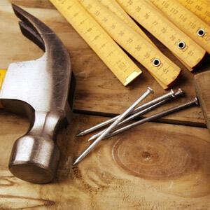 Handwerkszeug: Hammer, Nagel
