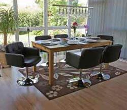 Stühle mit Lederbezug