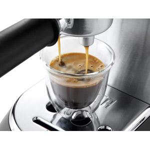 Frisch zubereiteter Espresso