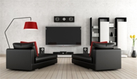 Wohnzimmer mit Soundsystem
