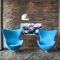 Polstermöbel: Sessel blau