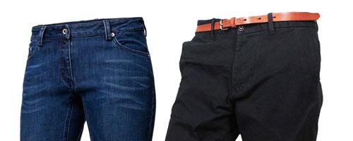 Jeans und Chino