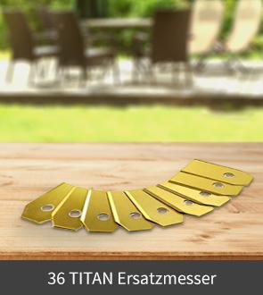 36 TITAN Ersatzmesser für Mähroboter