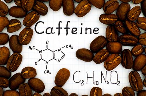 Molekulare Struktur von Koffein