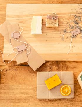 Zutaten für selbstgemachte Seife