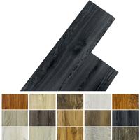 PVC-Fliesen in verschiedenen Holzfarben.