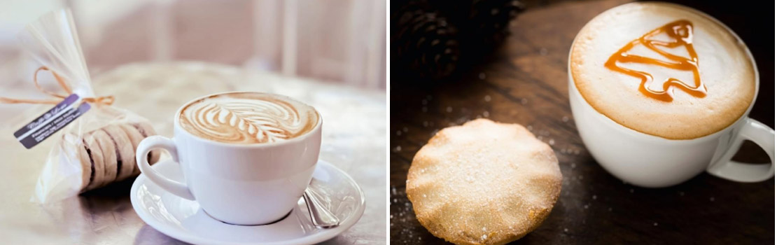 Beispiele für Latte Art
