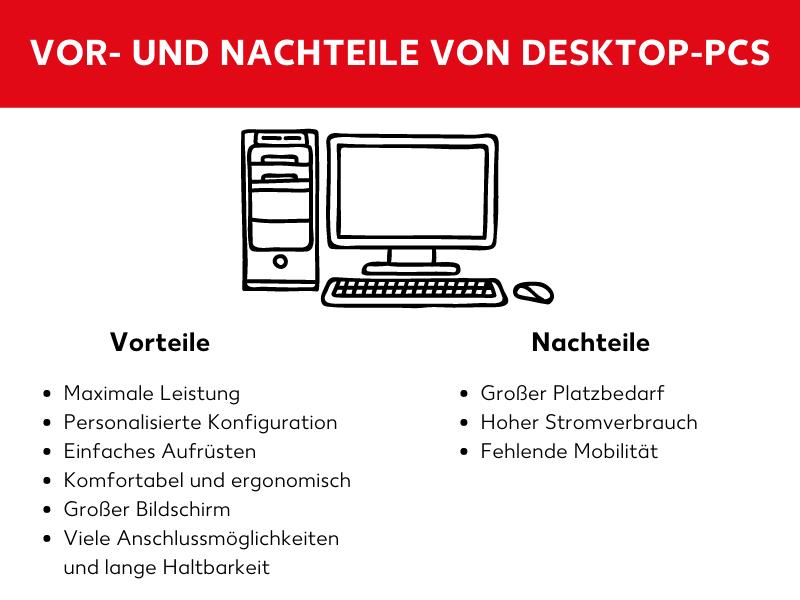 Vor- und Nachteile von Desktop-PCs