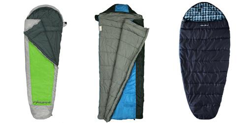 Campingausrüstung: Schlafsackmodelle