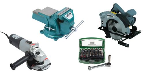 Auswahl unterschiedlicher Werkzeuge