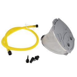 Fußpumpe mit Luftschlauch und Ersatzventilen
