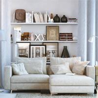 Polstermöbel: Sofa beige