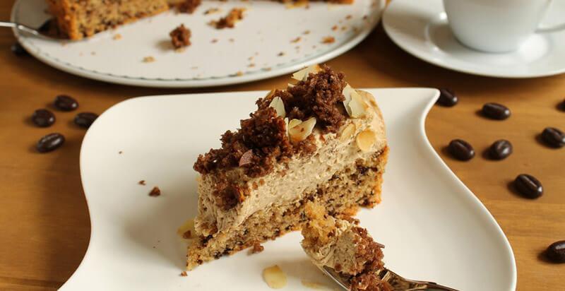 Köstliche Eiskaffee-Torte