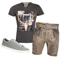 Lederhose und T-Shirt