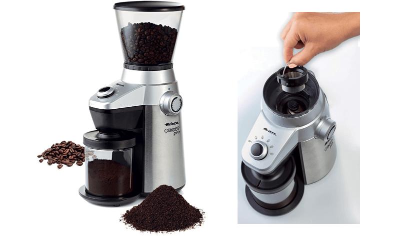 Elektrische Kaffeemühle mit herausnehmbaren Mahlwerk