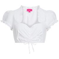 Weiße Bluse mit Herzausschnitt