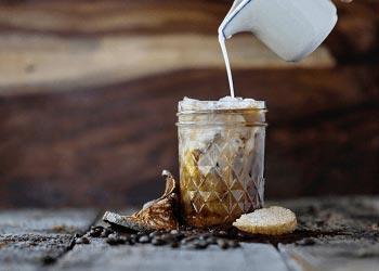 Kalorienarmer Eiskaffee