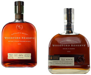 Auswahl an Woodford Reserve Whiskeys