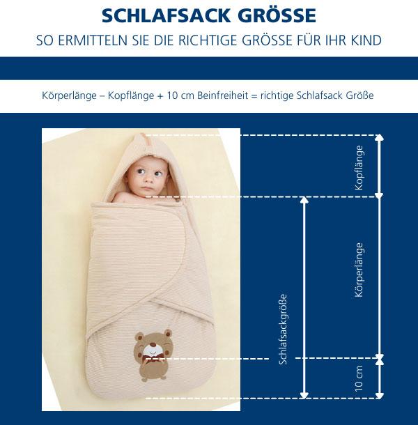 Schlafsack Größe