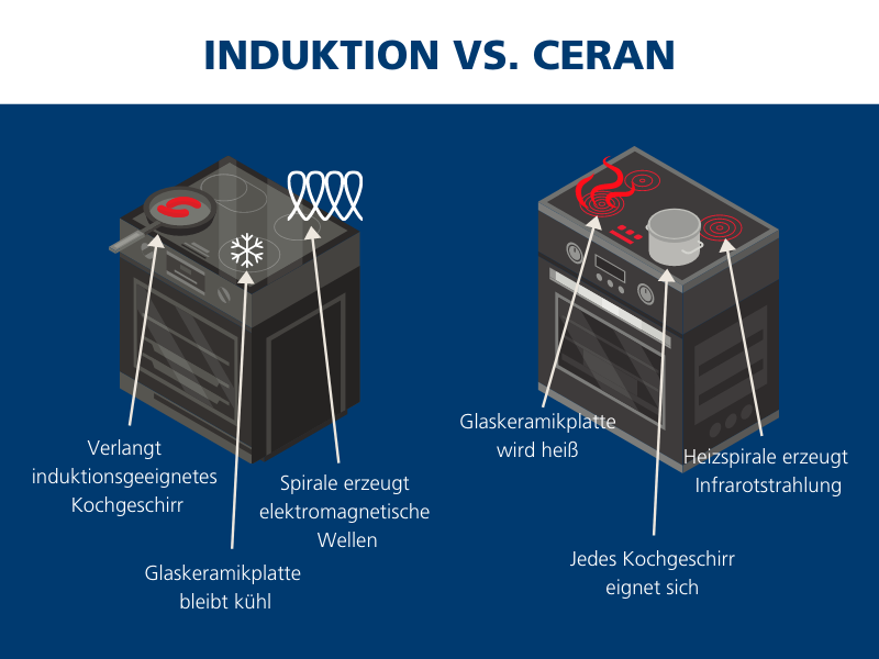 Induktions vs. Ceran