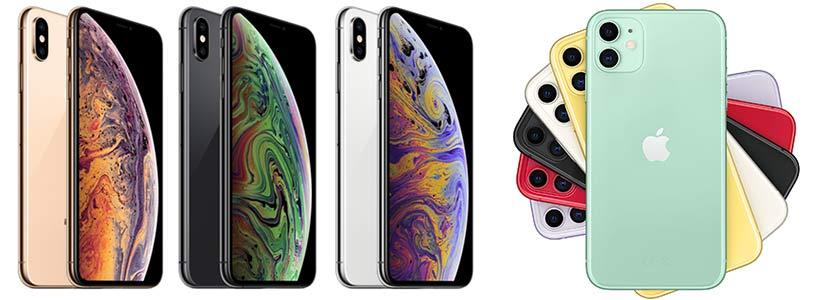 Farben des iPhone XS und iPhone 11