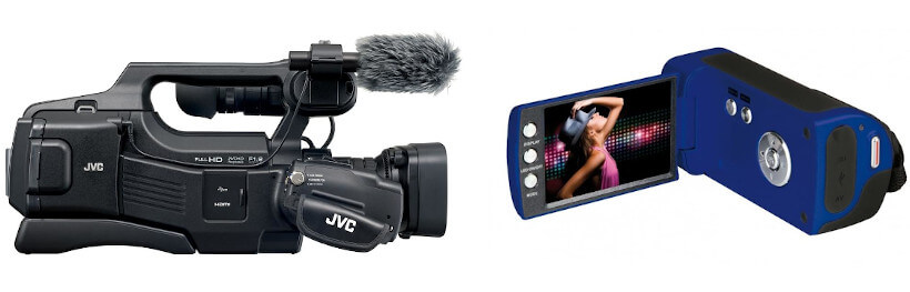 Professionelle Kamera vs. Camcorder