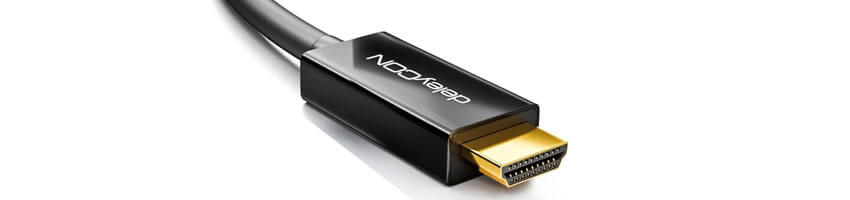Detailansicht HDMI-Anschlusskabel