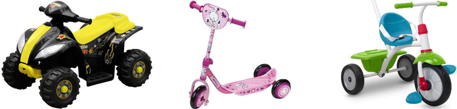 Verschiedene Kinderfahrzeuge