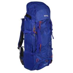 Blau-schwarzer Rucksack mit einem Volumen von bis zu 60 Litern