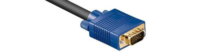 Detailansicht VGA-Anschlusskabel