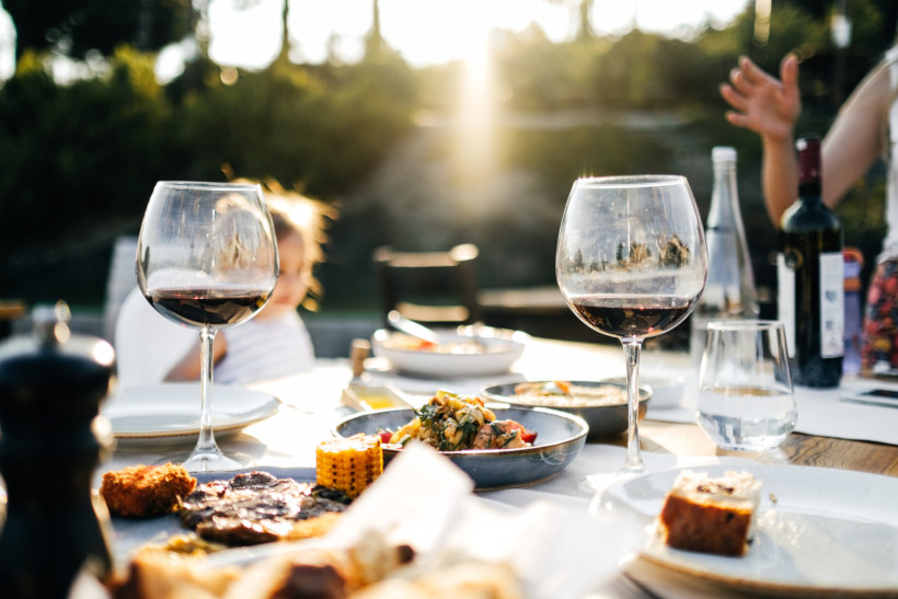 Wein zu Essen