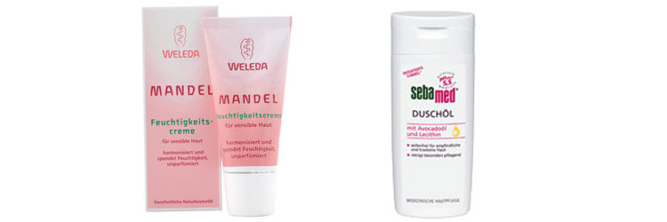Hautpflege: Feuchtigkeitscreme und Duschöl