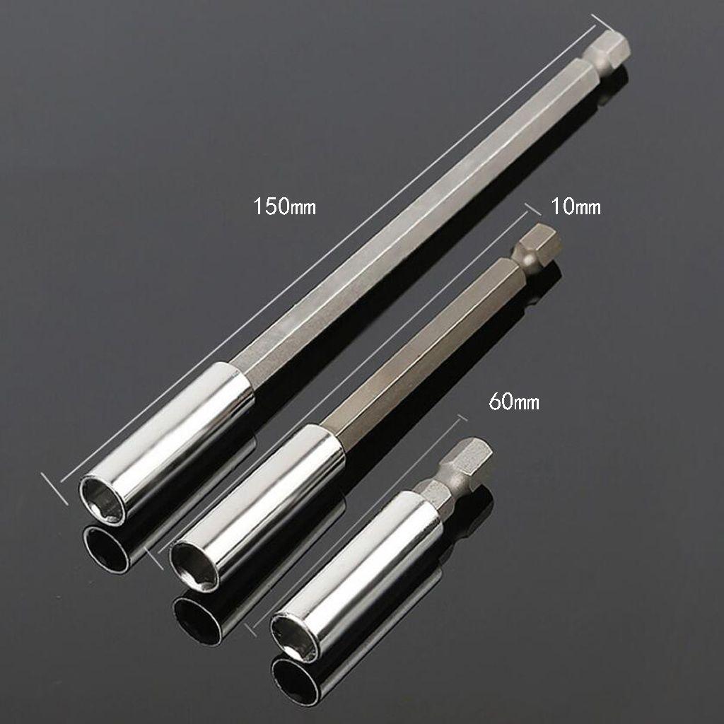 3 Stücke Magnetischer Schraubendreher Bithalter 1//4 Zoll Sechskant 6,35