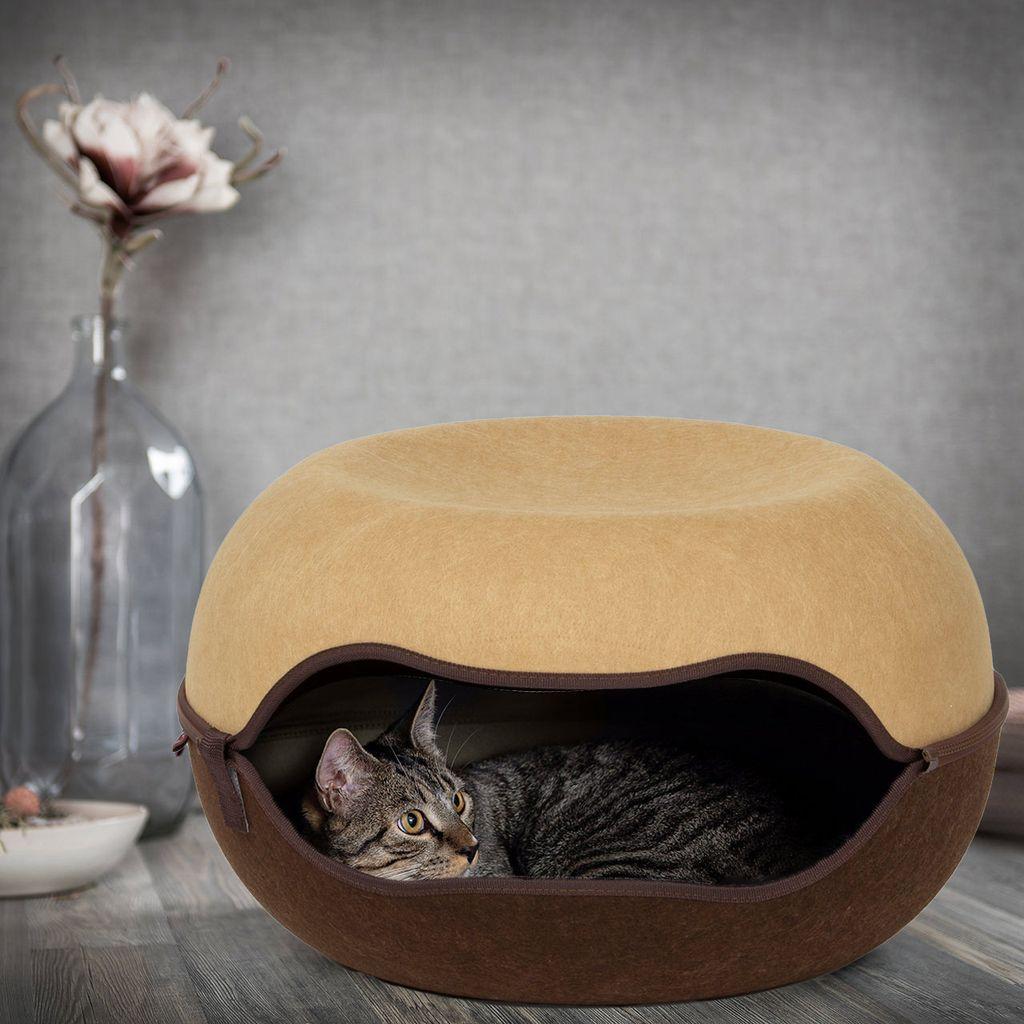 Das Katzennest 8.8   Filz   Beige/Braun