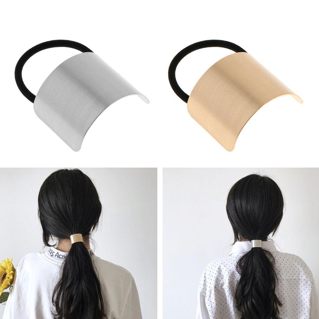 Haargummi Metall Haarband Zopfband Zopfgummi Pferdeschwanz Halter für Frauen