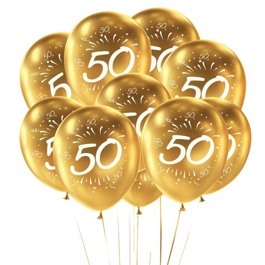 Oblique Unique 8x Luftballons Zahl 8 Geburtstag Jubiläum Goldene Hochzeit  Party Ballons   gold
