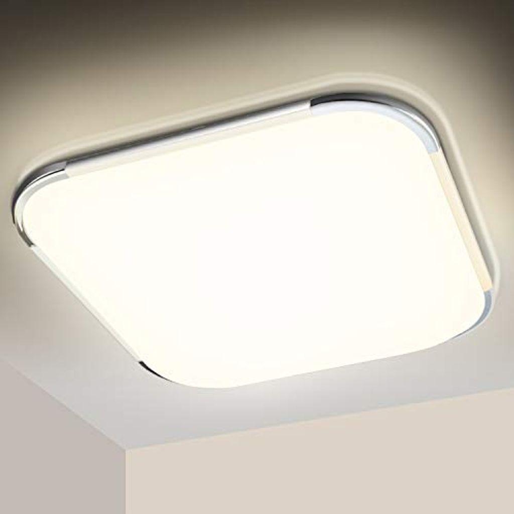 karpal LED Deckenleuchte 20W, 20K Neutralweiss, 20LM LED Deckenlampe,  Badezimmer Lampe, IP20 Wasserdicht Badleuchte, fuer Schlafzimmer Kueche ...