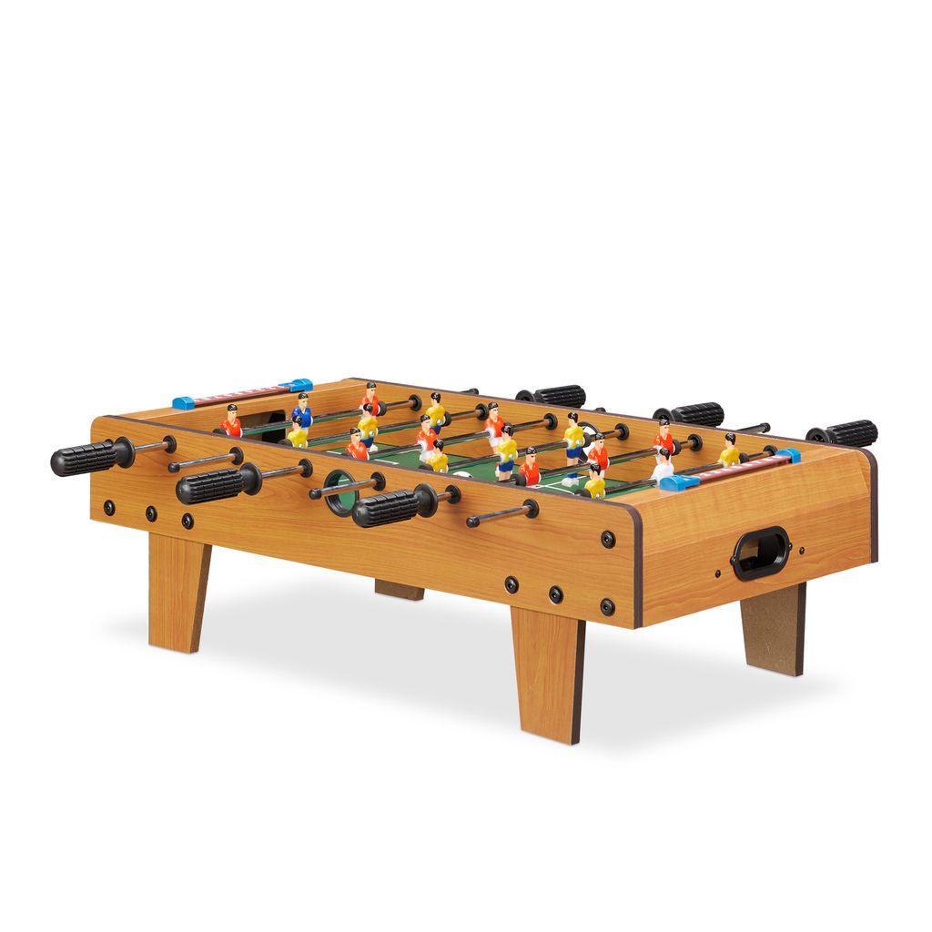 Mini-Tischkicker aus robustem Aluminium mit je 7 Spielern pro Seite Kicker