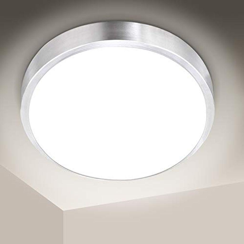 karpal 20W LED Deckenleuchte Bad, 20LM Rund Badezimmerleuchte,  Balkonleuchte Schutzart IP20, fuer Kueche, Flur, Wohnzimmer, Wandlampe,  ersetzt 20W ...