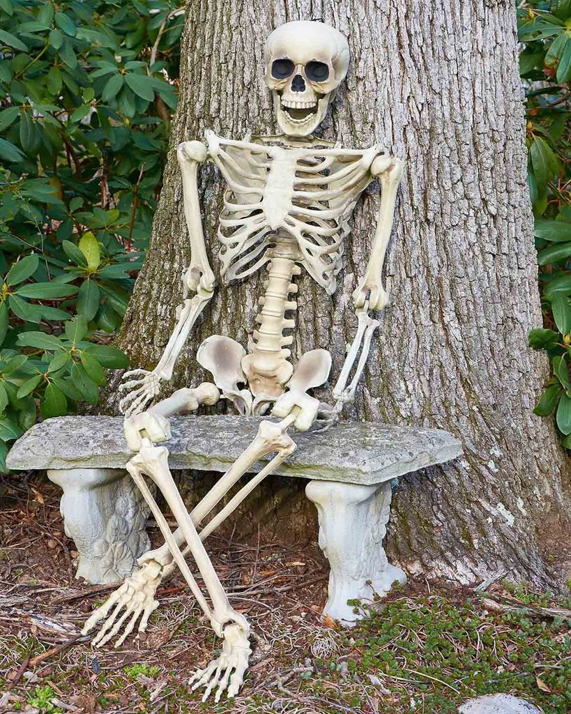 ca 135 cm Deko Skelett beweglich Halloween Horror Grusel Party Dekoration