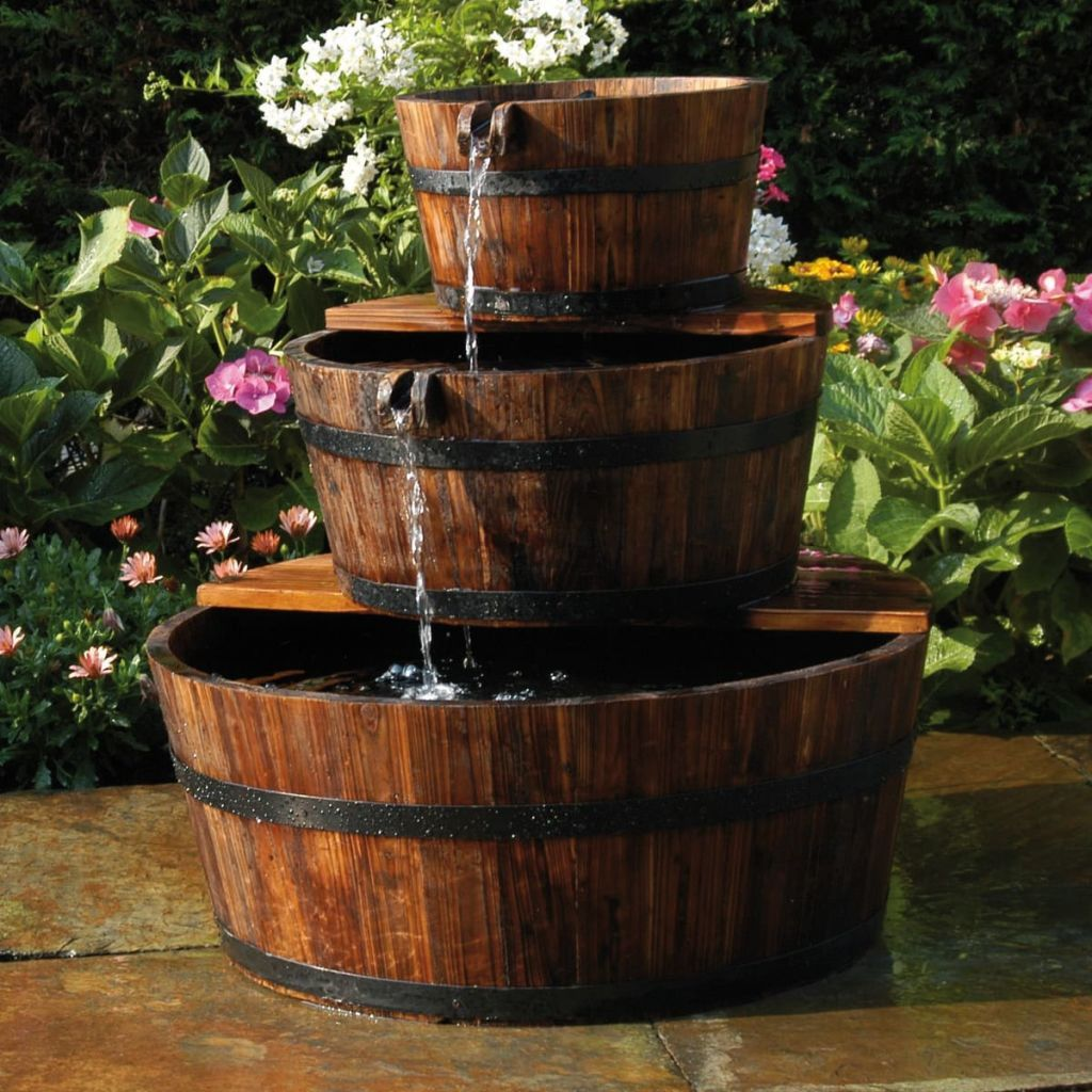Garten Wasserfall Garten Springbrunnen Brunnen Holzfaß Set 20 Fässer