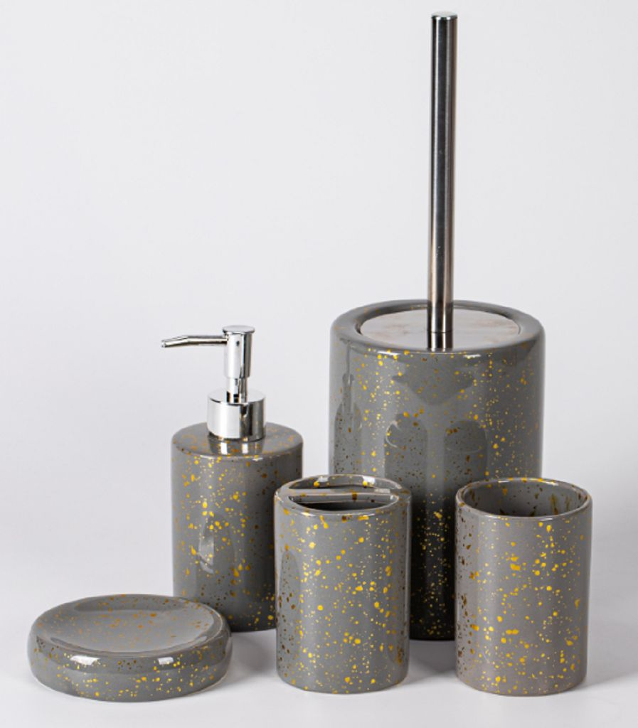 Trendmax Marmor Badezimmer Set, Luxus Badezimmer Accessoires, stolvolle  Badezimmer Set oder Toiletten Set elegante Seifenspender in Marmor Look, ...