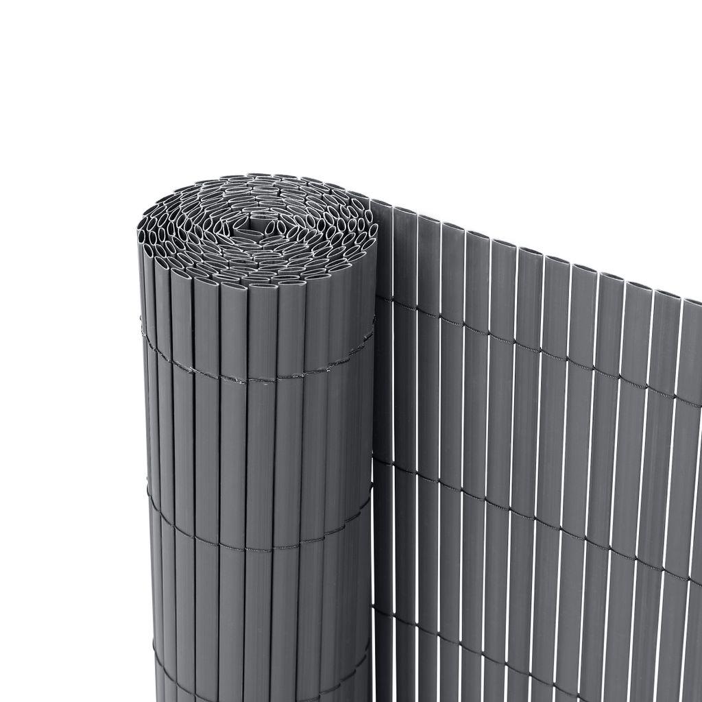 Ribelli® PVC Sichtschutzmatte Sichtschutzzaun Sichtschutz Zaun Balkon  Windschutz, Farbeanthrazit, Länge8 Meter, Höhe8 cm