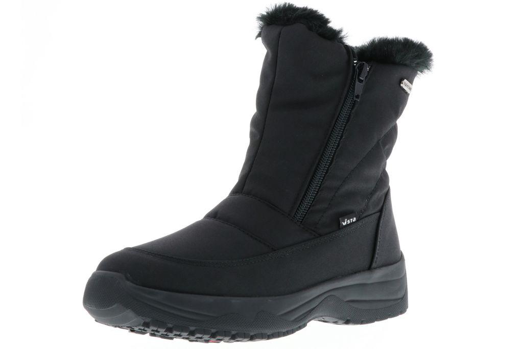 Vista Damen Snowboots Winterstiefel EISKRALLEN schwarz