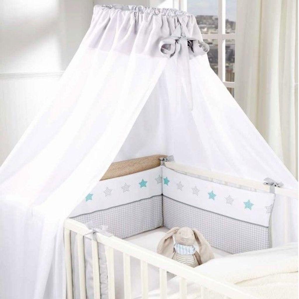 Bettset Baby Nestchen + Himmel für Babybett Sterne