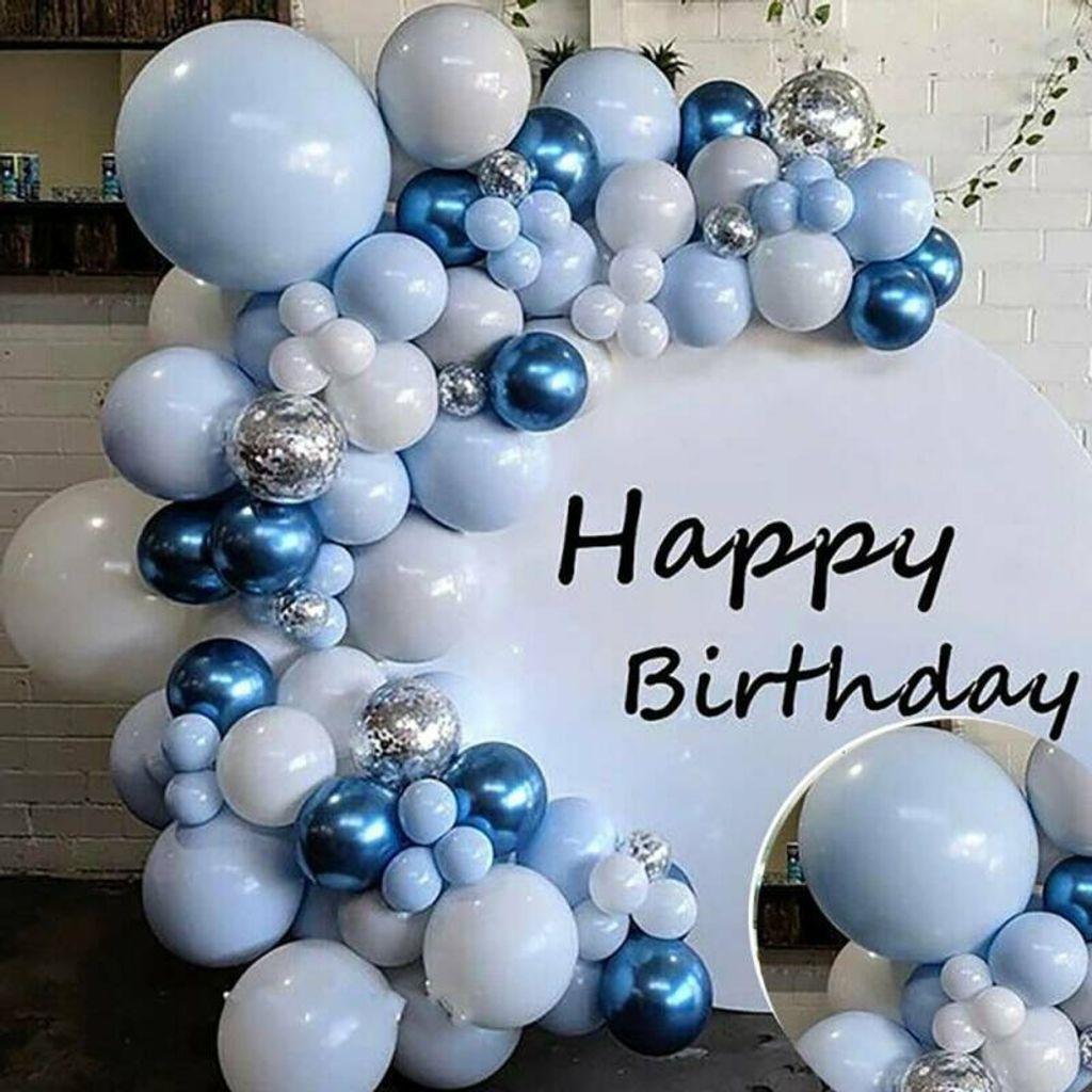 Luftballons Blau Ballons Set Geburtstag Hochzeit Happy Birthday Party  Dekoration Ballonsets für Partydekoration