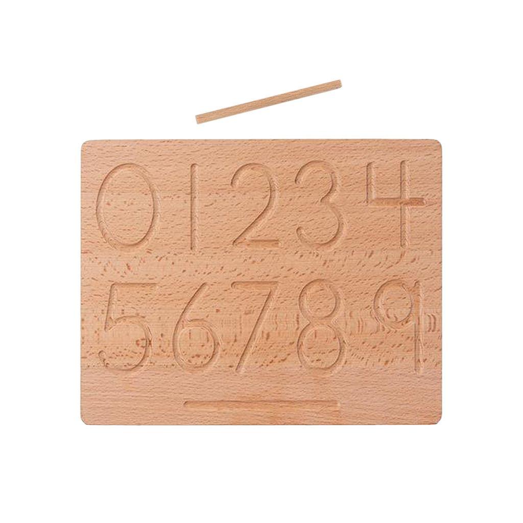 Mathe Holz Kleinkind Puzzles Board Form Rätsel für Angelspiel Anzahl